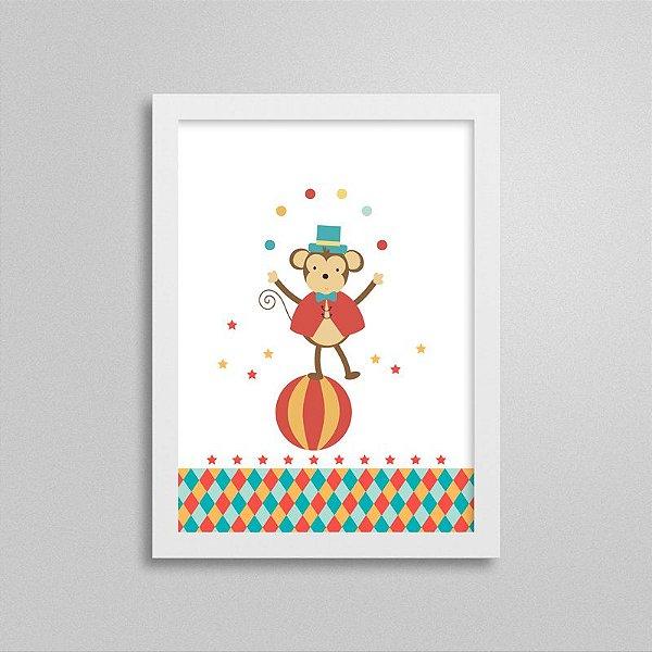 Quadro Decorativo Tema Circo - Macaco