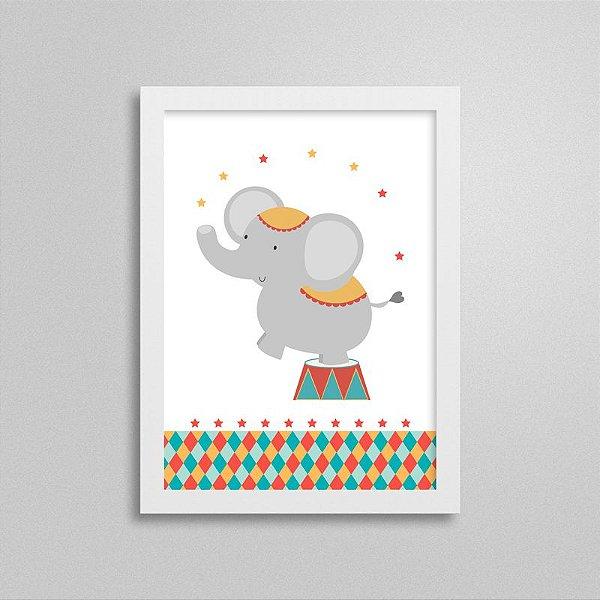 Quadro Decorativo Tema Circo - Elefante