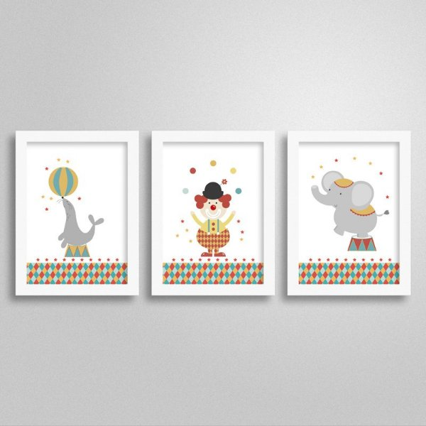 Kit Quadro Decorativo Tema Circo 1