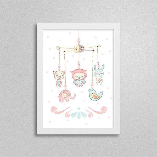 Quadro decorativo Sweet Baby Girl - Móbile 2