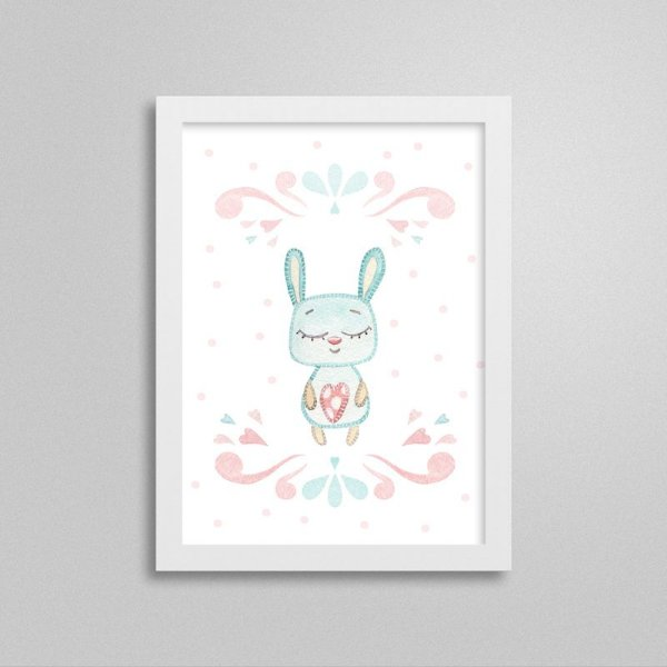 Quadro decorativo Sweet Baby Girl - Coelhinho