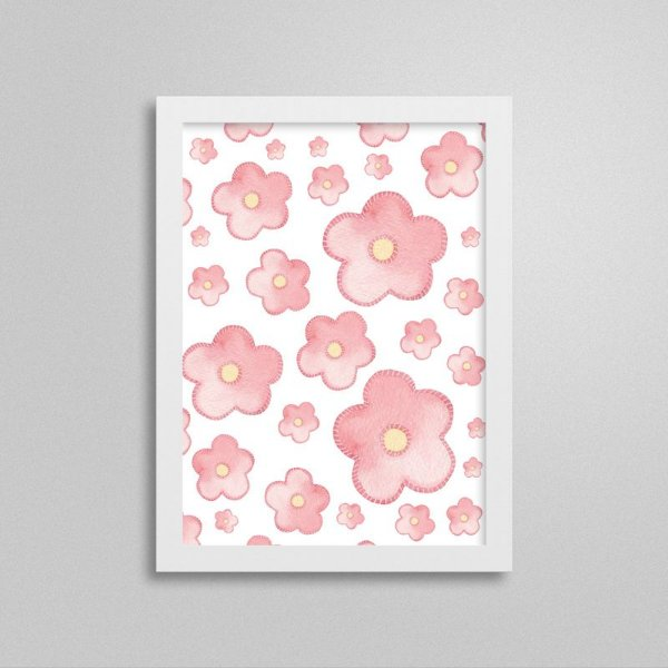 Quadro decorativo Sweet Baby Girl - Flores 2