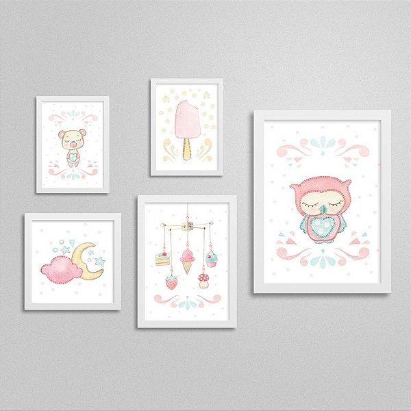 Quadros decorativos Sweet Baby Girl - Kit 2