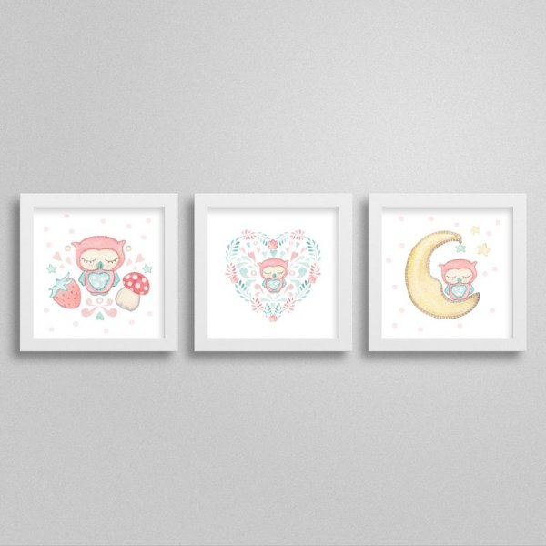 Quadros decorativos Sweet Baby Girl - Kit 7