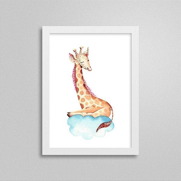 Quadro Bichinho Fofinho - Girafa Sonhadora