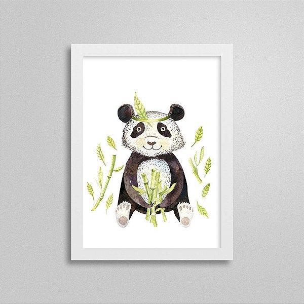 Quadro Bichinho Fofinho - Urso Panda