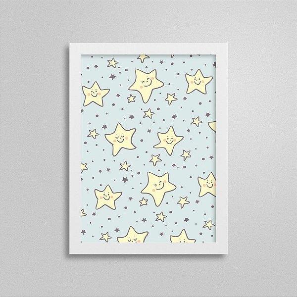 Quadro Infantil Pequeno Príncipe - Estrelas