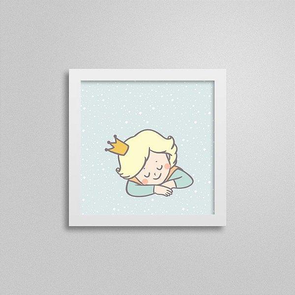 Quadro Infantil Pequeno Príncipe - Menino