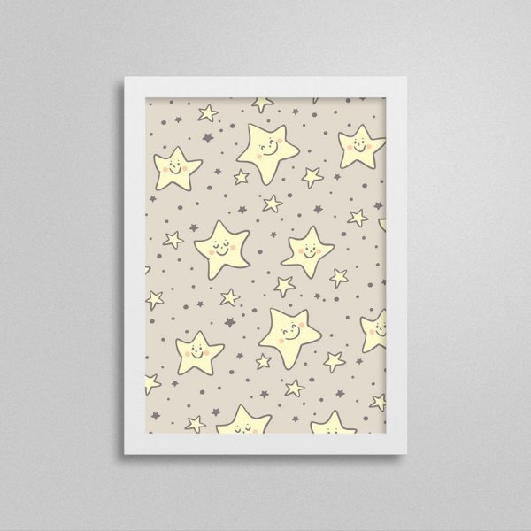 Quadro Infantil Pequena Princesa - Estrelas