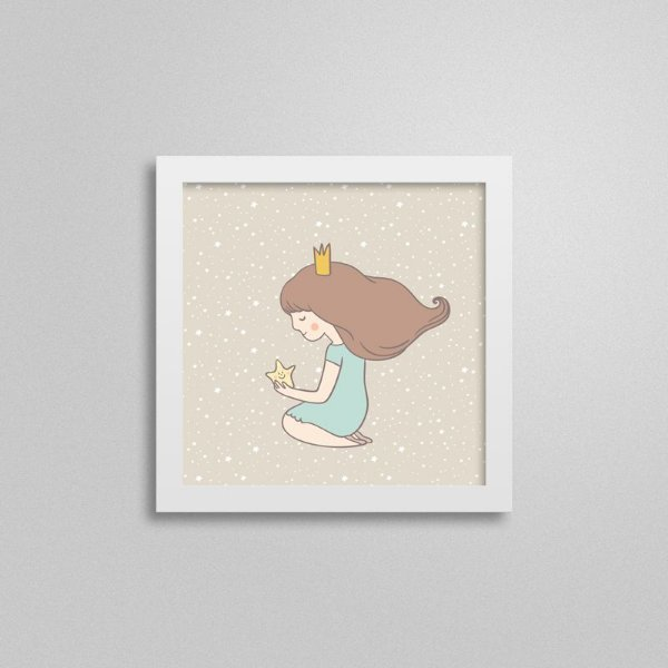 Quadro Infantil Pequena Princesa - Menina