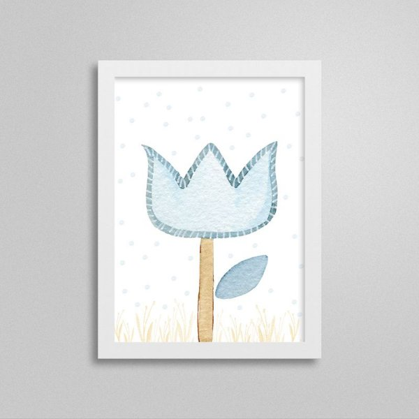 Quadro decorativo Sweet Baby Boy - Flor
