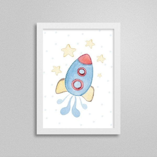 Quadro decorativo Sweet Baby Boy - Nave Espacial