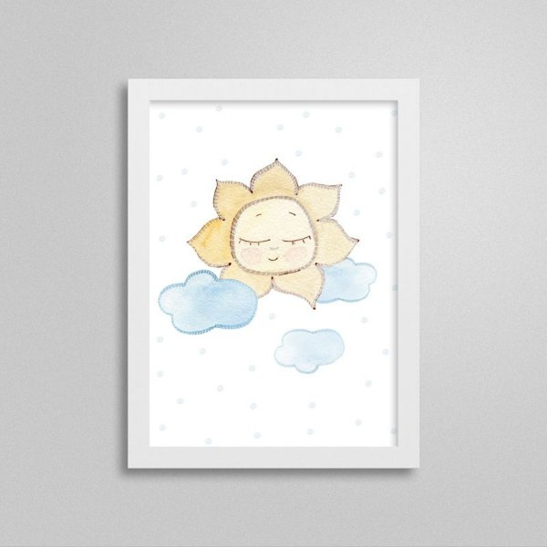 Quadro decorativo Sweet Baby Boy - Sol