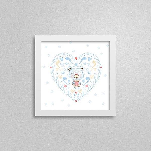 Quadro decorativo Sweet Baby Boy - Ursinho e Coração