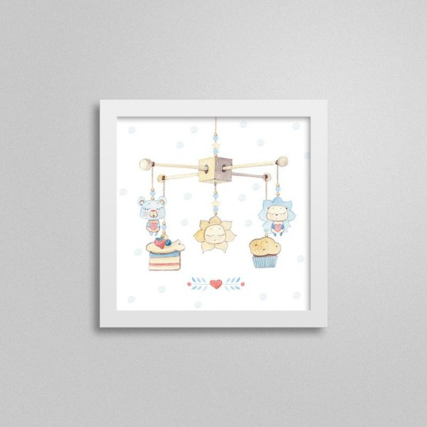 Quadro decorativo Sweet Baby Boy - Móbile 3