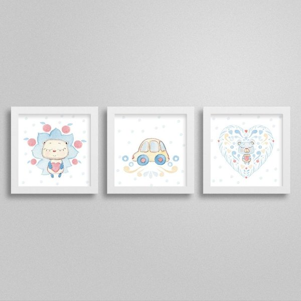 Quadros decorativos Sweet Baby Boy - Kit 1