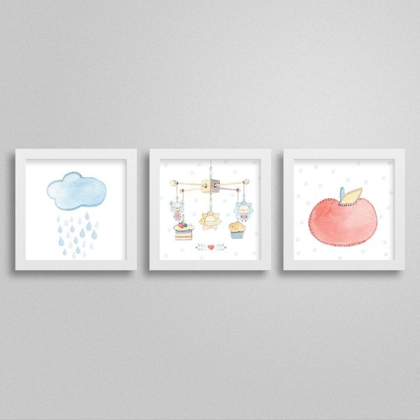 Quadros decorativos Sweet Baby Boy - Kit 2