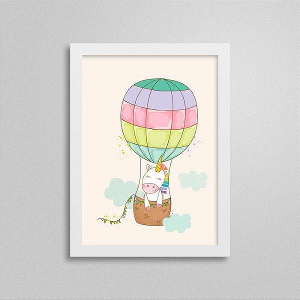 Quadro Unicórnio Quarto Bebê - Balão