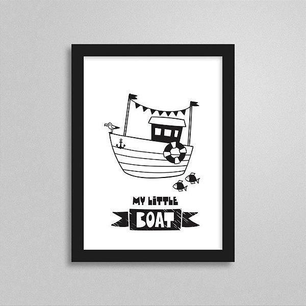 Quadro Marinheiro Quarto de Bebê - Barco