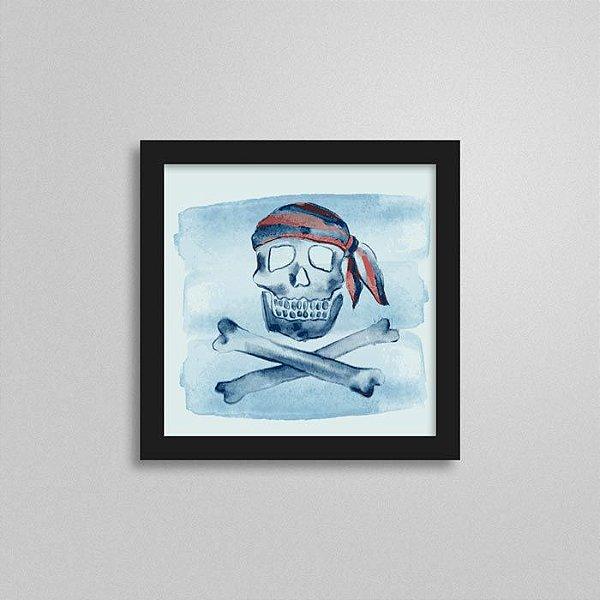 Quadro Marinheiro Quarto de Menino - Bandeira Pirata