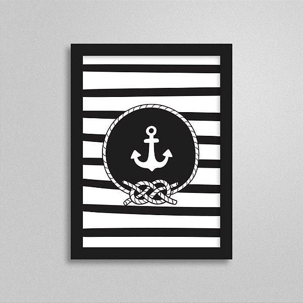 Quadro Navy Quarto de Bebê - Âncora