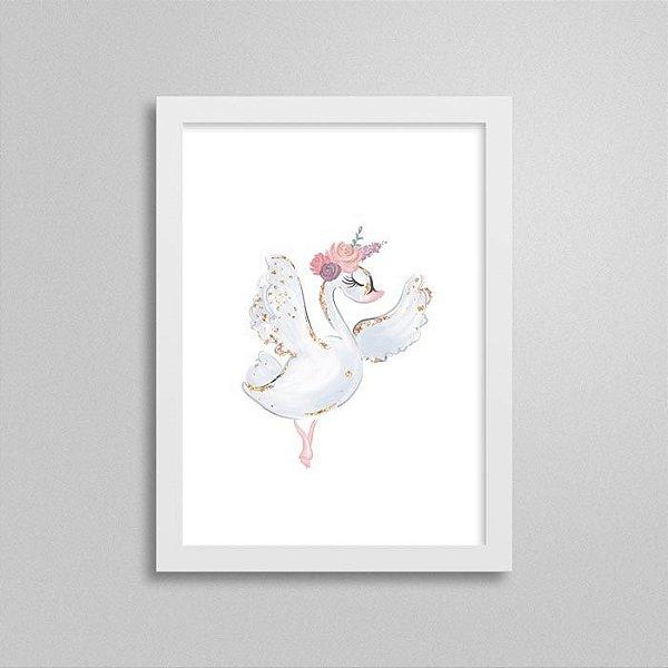 Quadro Ballet Cisne Branco - Decorativo