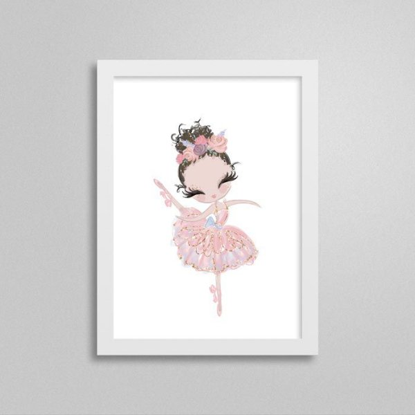 Quadro Bailarina Cor-de-Rosa - Graciosa