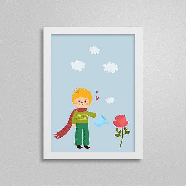 Quadro Pequeno Príncipe - Rosa