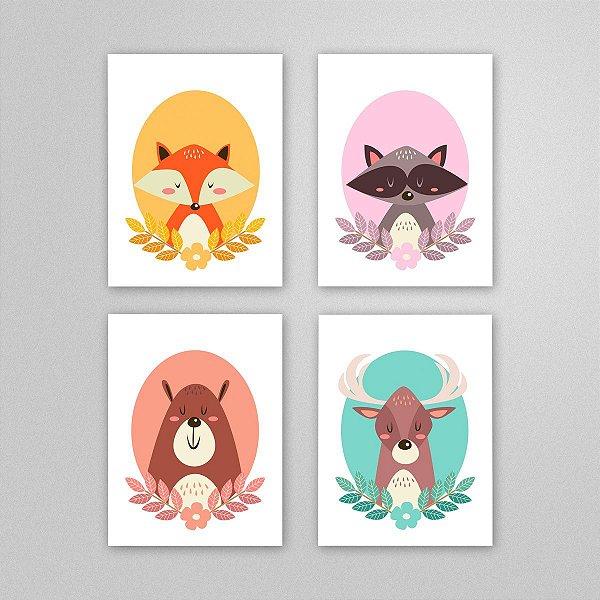 Ilustração para imprimir - quadro quarto bebê - M3
