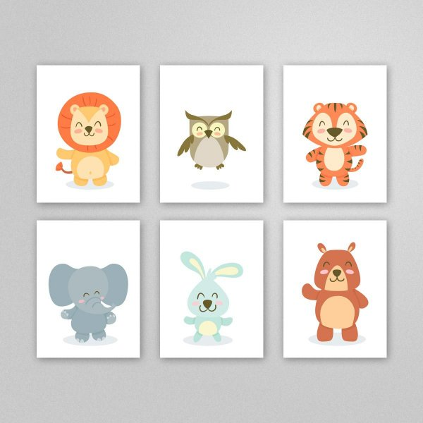 Ilustração para imprimir - quadro quarto infantil - M5