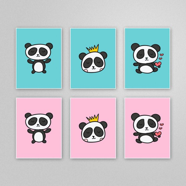 Ilustracao Para Imprimir E Fazer Quadro Com Tema Urso Panda