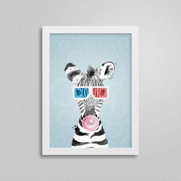Quadro Quarto de Menino Safari - Zebra