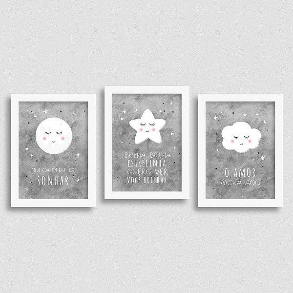 Kit de Quadros Frases Quarto de Bebê