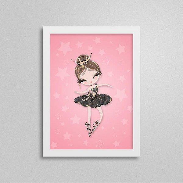 Quadro Balé e Bailarina - Black Swan 2