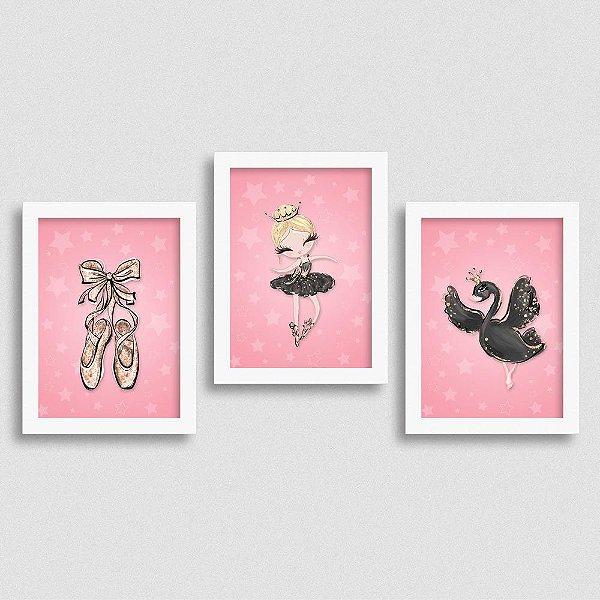 Quadro Balé e Bailarina - Kit Black Swan 1