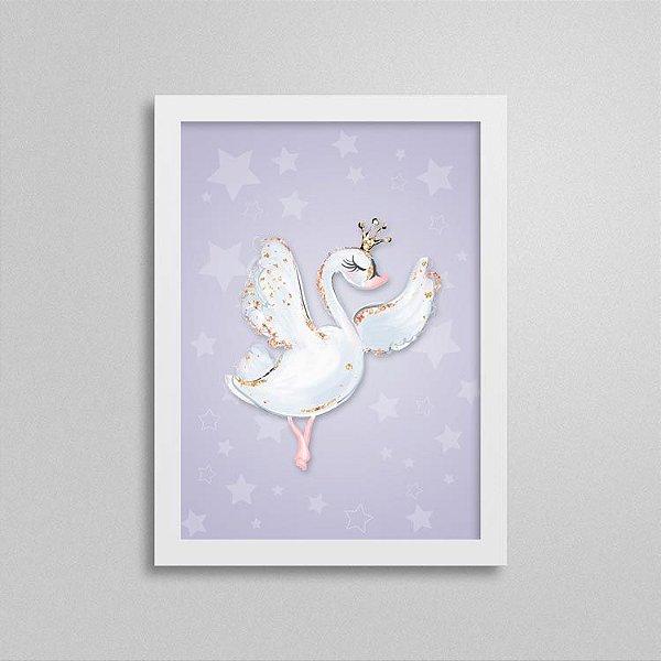 Quadro Balé e Bailarina - Cisne Branco