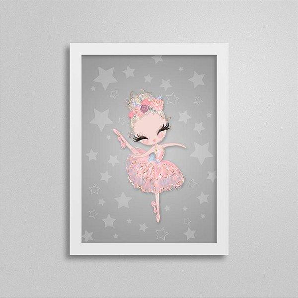 Quadro Balé e Bailarina - Love 1