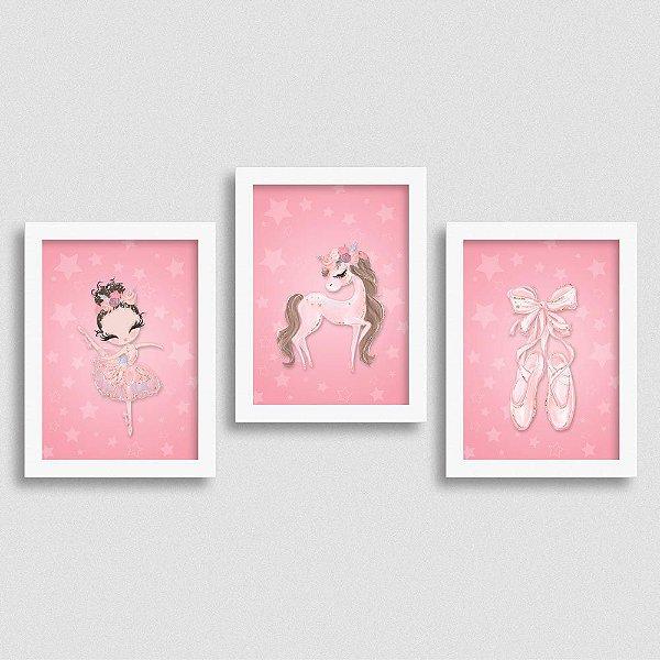 Quadro Balé e Bailarina - Kit Love 2