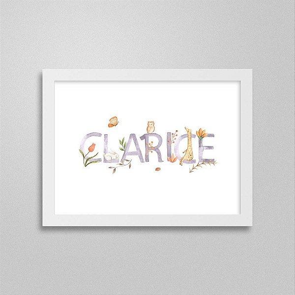 Quadro nome Clarice