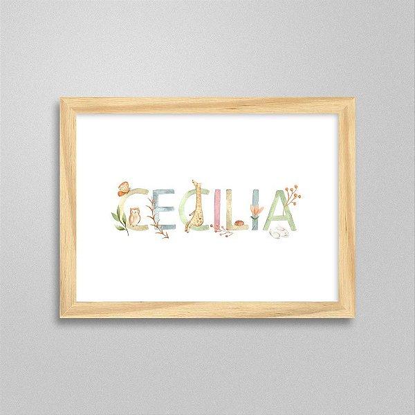 Quadro nome Cecilia