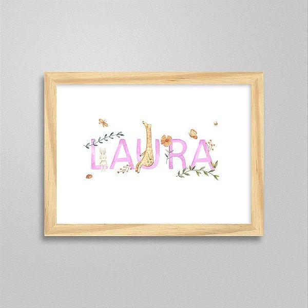 Quadro nome Laura