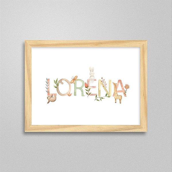 Quadro nome Lorena