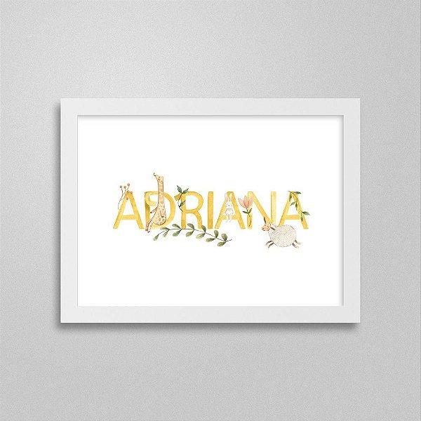 Quadro nome Adriana