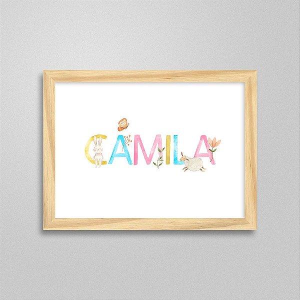 Quadro nome Camila