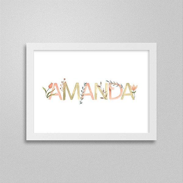 Quadro nome Amanda