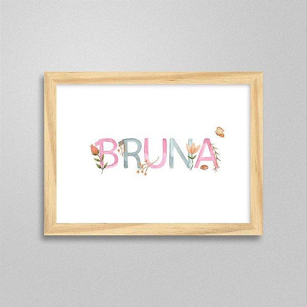 Quadro nome Bruna