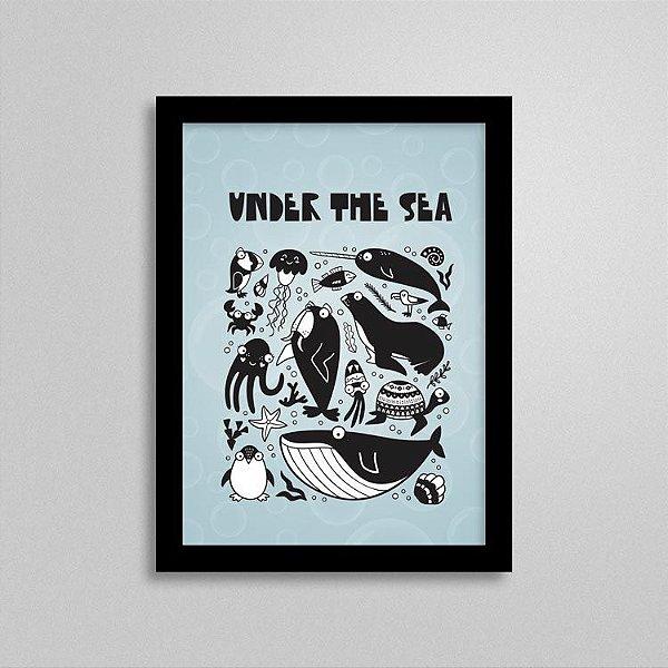 Quadro Fundo do Mar - Animais Marinhos