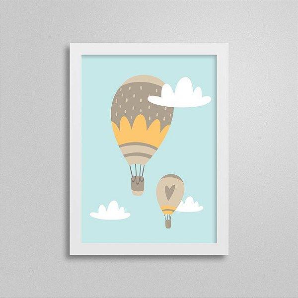 Quadro Aventura e Diversão - Balões