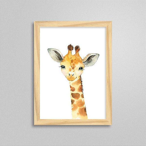 Quadro Filhote de Girafa - Decoração Quarto de Bebê