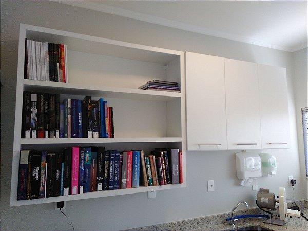 Armario Para Livros Casas Bahia : Arm?rio e estante para livros planejados sob medida j